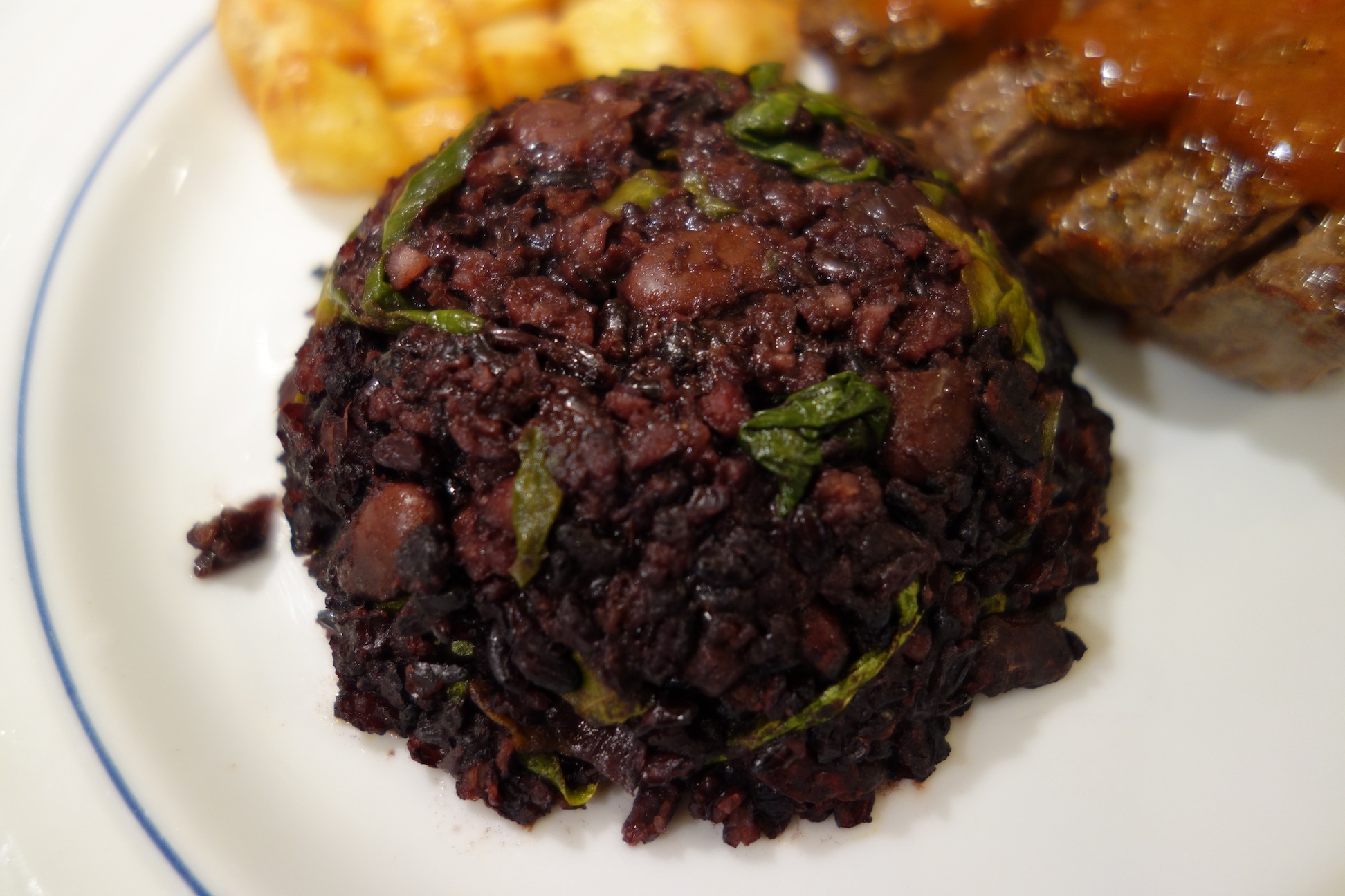Black Rice with Beans and Spinach