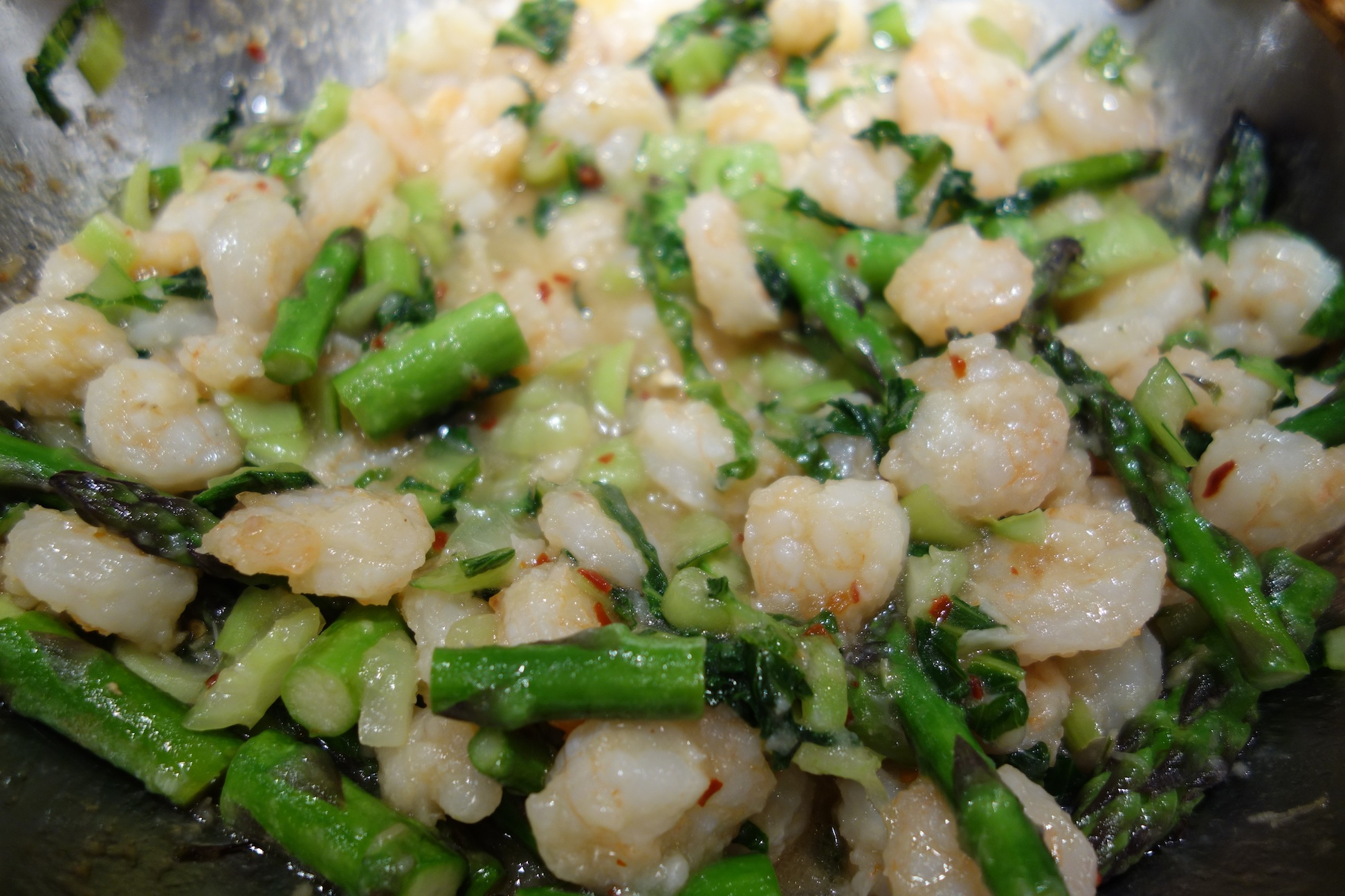 Shrimp Asparagus with Sweet Chili Sauce