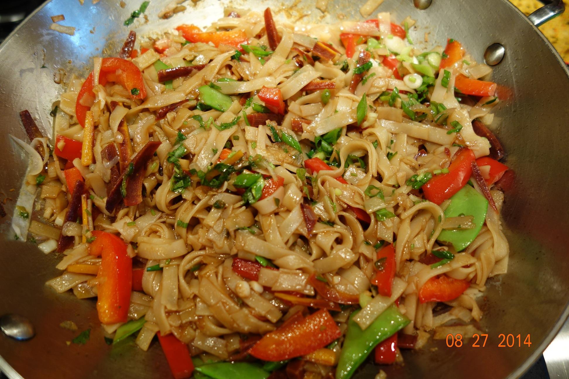 Vegetable Drunken Noodles