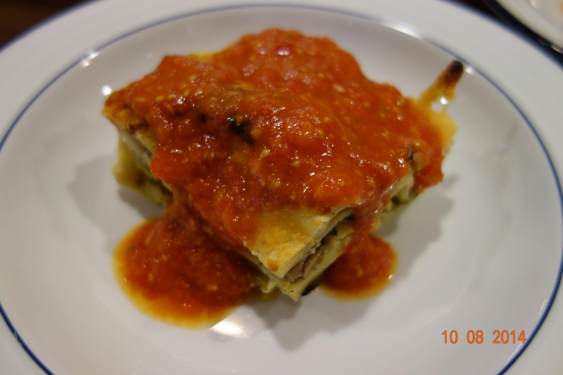Mushroom and Pesto Lasagna