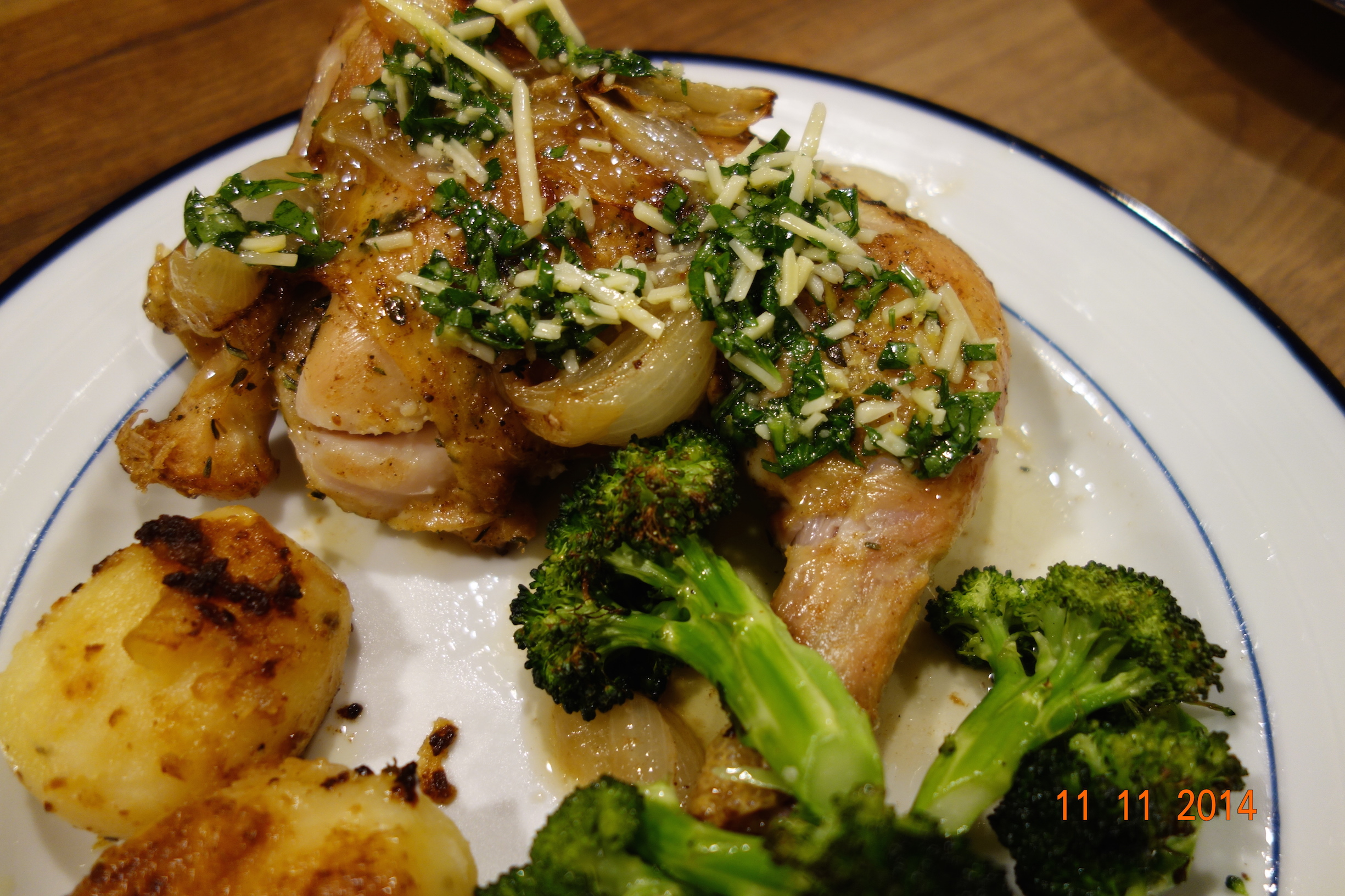 Roast Chicken Quarters with Thyme