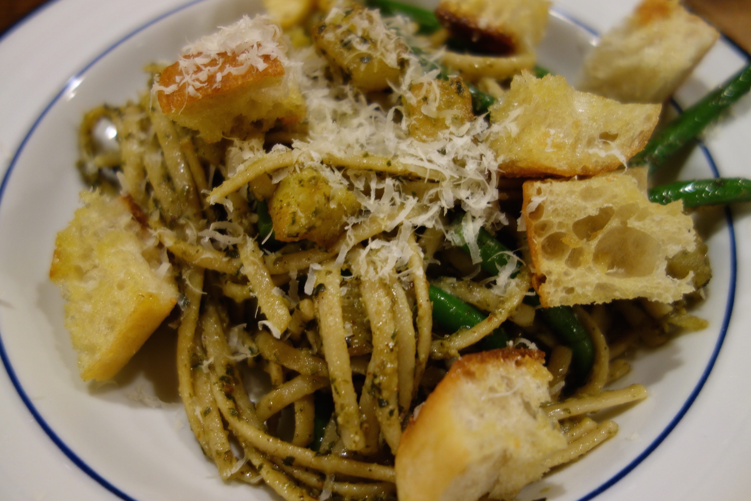 Pasta with Potatoes and Green Beans