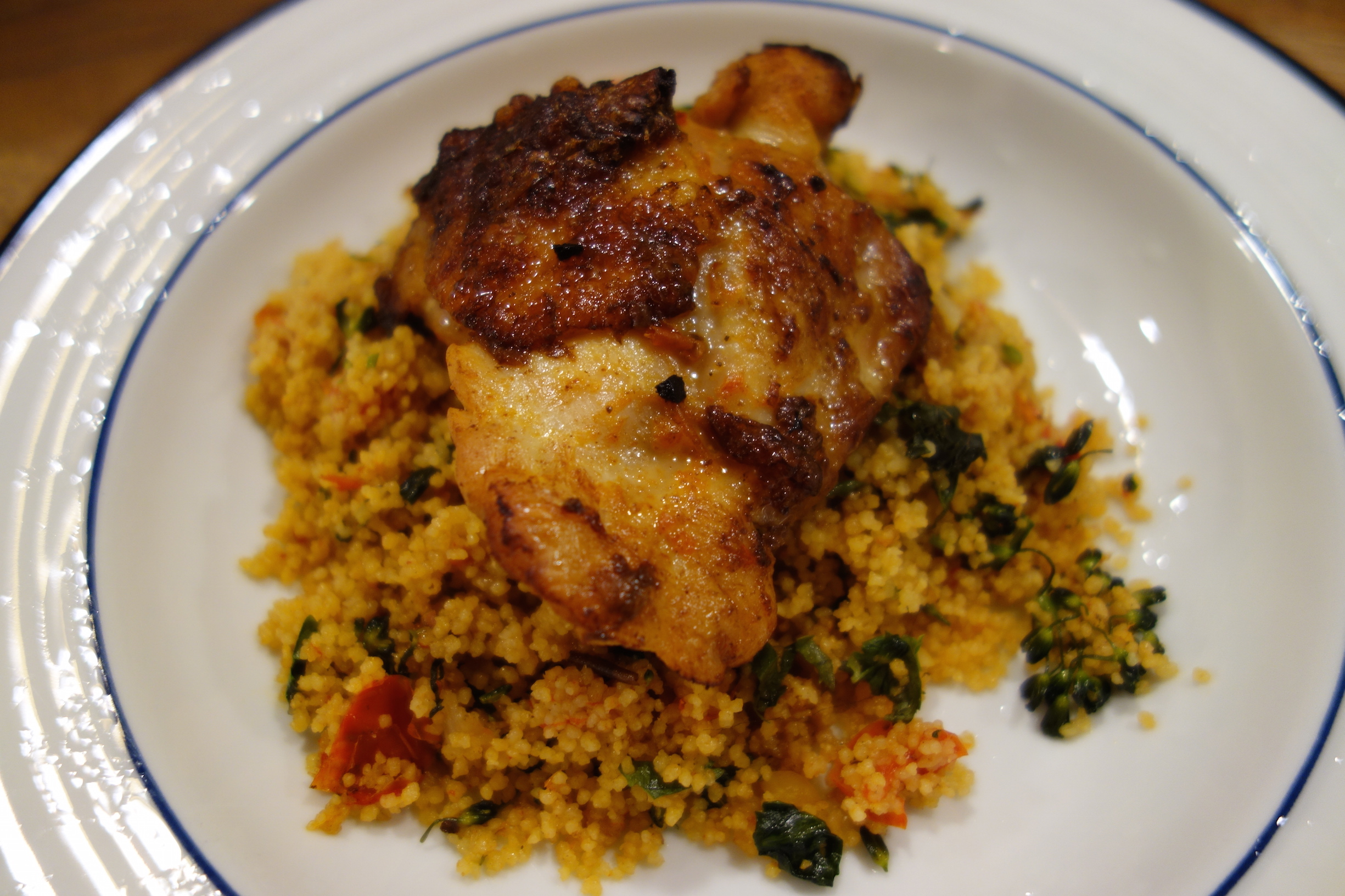 ... chicken save one pan chicken couscous chickenchunks harissa chicken