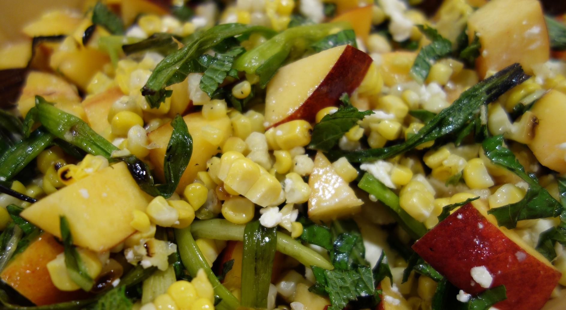 Fresh Nectarine and Corn Salad