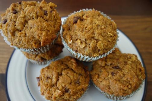Healthy Pumpkin Oatmeal Muffins