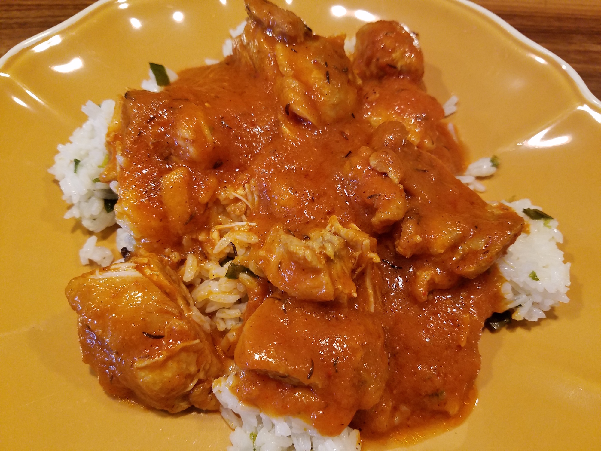 Chicken Curry with Roasted Onion